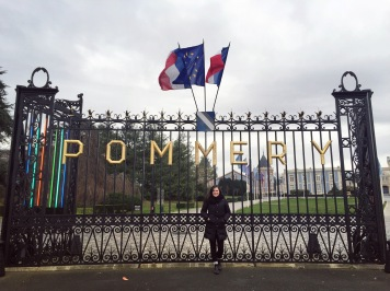 Outside of the Pommery house!
