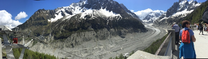 View from above the Montenvers Mer de Glace