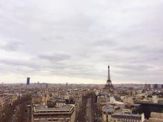 Views of Paris from the Arc de Triomphe