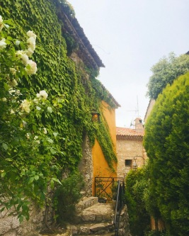 One of the ivy covered streets in Eze