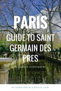 Paris Itinerary Saint Germain De Pres